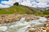 Visa till foten av kaukasus bergen nära arkhyz — Stockfoto