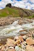 вид на предгорья кавказских гор вблизи архыз — Стоковое фото