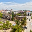 Panoramic view to the Old fort at Stone Town, Zanzibar, Tanzania — Stock Photo
