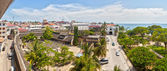 Panoramic view to the Old fort at Stone Town, Zanzibar, Tanzania — Stock Photo