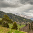 View to foothills of Caucasus mountains near Arkhyz, Karachay-Ch — Stock Photo