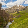 Stock Photo: View to foothills of Caucasus mountains near Arkhyz, Karachay-Ch