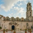 Square in front of basilica and the monastery of San Francisco d — Stock Photo