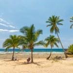 Beach Siboney 19km from Santiago de Cuba — Stock Photo