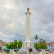Постер, плакат: View to the column dedicated to the Liberation Army of Cuba