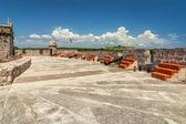 Terra di cannone principale della fortezza di jagua (fortaleza de jagua) — Foto Stock