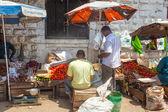 Old Town Market under bright sun — Stock Photo