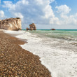 Aphrodite's rock and beach Petra tou Romiou — Stock Photo
