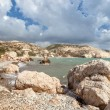 Rock at beach Petra tou Romiou — Stock Photo
