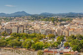Aerial view to old city streets and buildings — Foto Stock