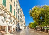 Famous cafes at building at Kapodistriou street — Stock Photo
