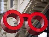 Gafas-publicidad-cierre — Foto de Stock