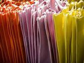 Fabric-bags-orangepink — Stock Photo