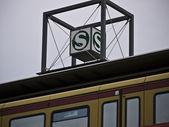 Signo-luz-tren-tren — Foto de Stock