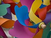 Vina-hjul-pinkblueyellow — Stockfoto