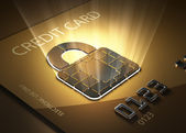 Secure credit card transactions — Stock Photo