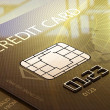 Credit card macro - Stock Photo