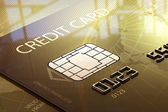 Credit card macro — Stock Photo
