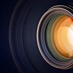 Kamera-Objektiv-Hintergrund — Stockfoto