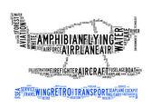 Amphibian plane text clouds — Stock Photo