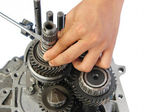 Gearbox service — Stock Photo