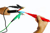 Elektrische kabel testen — Stockfoto