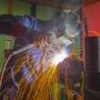 Welder at location — Foto Stock