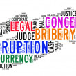Stock Photo: Corruption text cloud