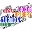Corruption text cloud — Stock Photo