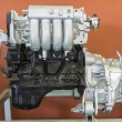 Car engine on fair stand — Stock Photo