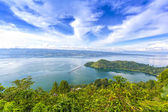 Cloudscape of danau toba — Stock Photo