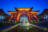 Traditional chinese building at twilight time — Stock Photo