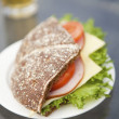 Royalty-Free Stock Photo: Ham, cheese and tomato sandwich