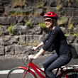 Woman cycling — Stock Photo
