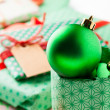 Christmas gifts and decoration — Stock Photo #13876534
