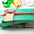 Christmas gifts and decorations — Stok fotoğraf
