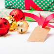 Christmas gifts and decorations — Foto de Stock
