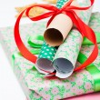 Christmas gifts and decorations — Foto Stock