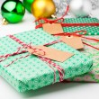 Christmas gifts and decorations — ストック写真