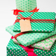 Christmas gifts and decorations — Stockfoto