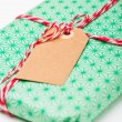 Simple gift with tag — Stock Photo #14368859
