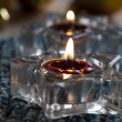 Candles and baubles — Stock Photo