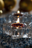 Candles and baubles — Stockfoto