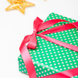 Stock Photo: Gift and decorations