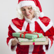Santa Claus helper elf — Stock Photo