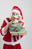 Jultomten helper elf — Stockfoto