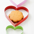 Gingerbread and heart shapes — Stock Photo