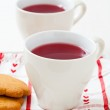 Christmas mulled wine and gingerbread biscuits — Stock Photo