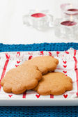 Gingerbread biscuits on plate — Stock Photo