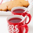 Christmas mulled wine and gingerbread — Stok fotoğraf